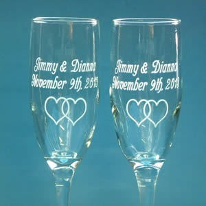 Romantic things to do with champagne glasses