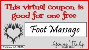 Foot Massage Romantic things