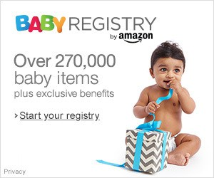Amazon baby registry banner