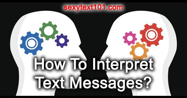 interpret texts